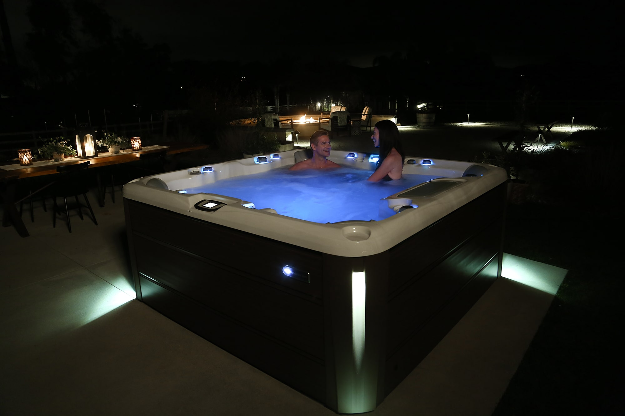 Hot Tub Sundance Spas 880 Series Optima Install in Redding, CA