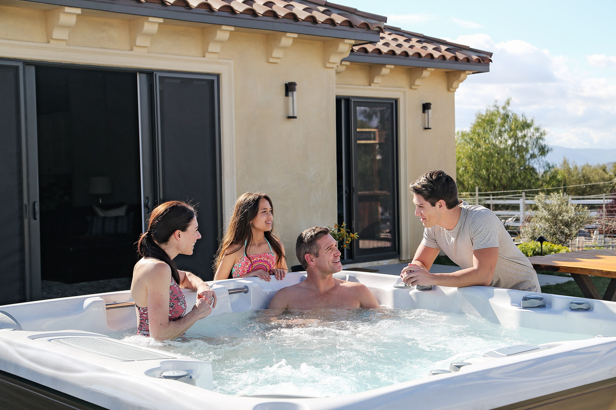 Sundance Spas 880 Series Optima Installation in Redding, CA