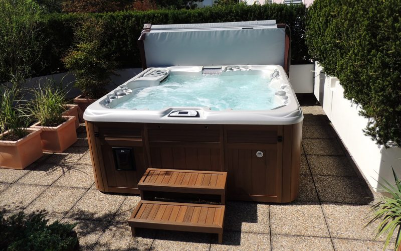 Sundance Spas installation steps in Redding, California
